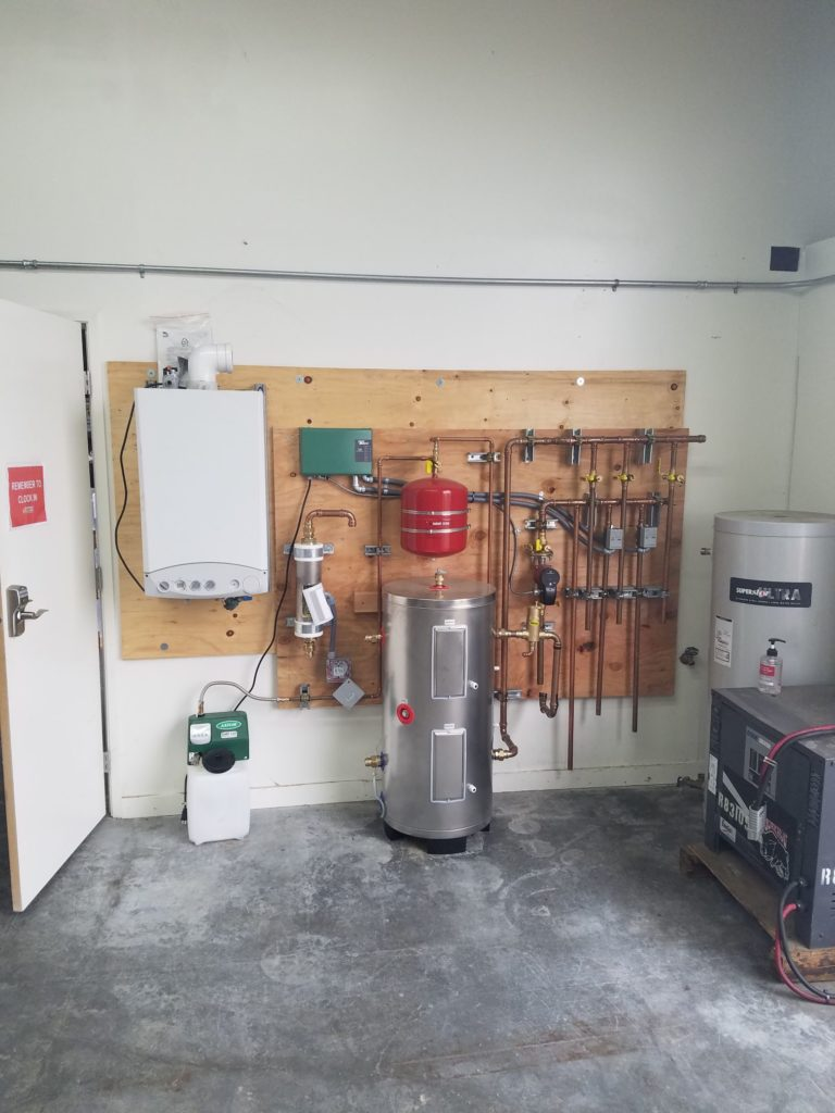 Hot water demonstration