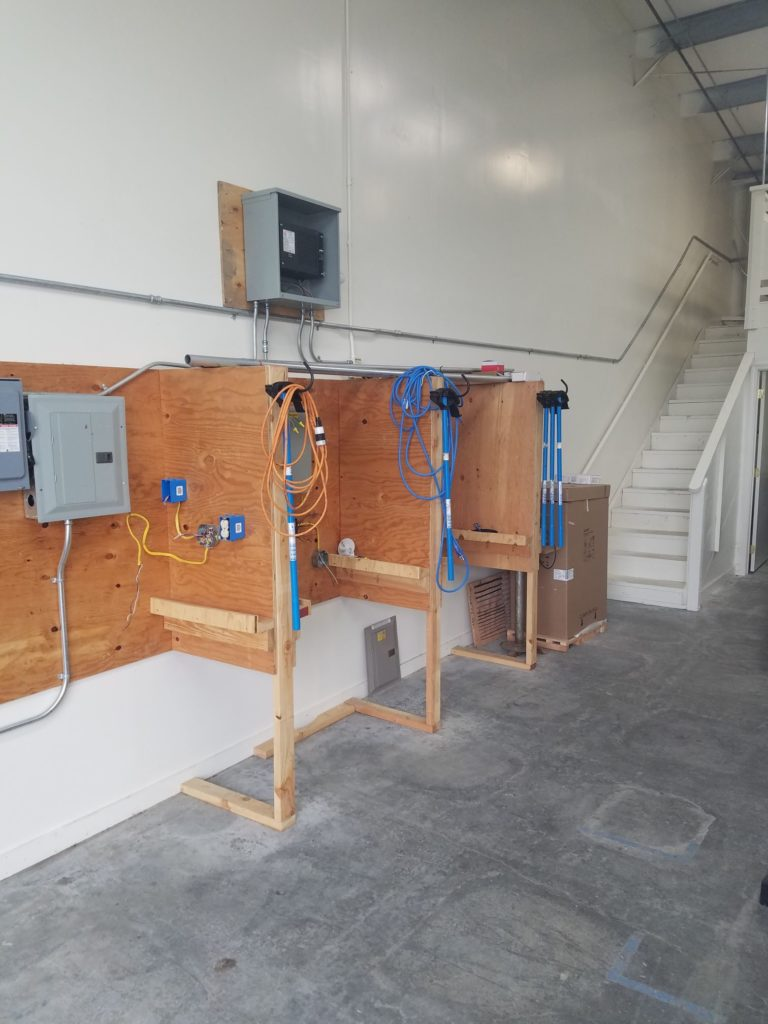 Electrical wiring station